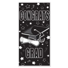12 Units of Congrats Grad Door Cover Indoor & Outdoor Use - Photo Prop Accessories & Door Cover