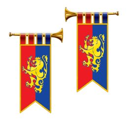 12 Units of Herald Trumpet Cutouts Prtd 2 Sides - Hanging Decorations & Cut Out