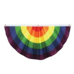 6 Units of Rainbow Fabric Bunting Indoor & Outdoor Use; 3 Grommets - Photo Prop Accessories & Door Cover