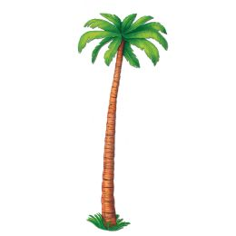 12 Units of Jointed Palm Tree Prtd 2 Sides - Bulk Toys & Party Favors