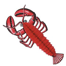 24 Units of Tissue Lobster Tissue Opens HalF-Round - Hanging Decorations & Cut Out