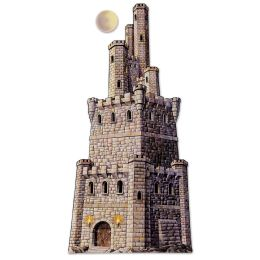 12 Units of Jointed Castle Tower Prtd 2 Sides - Bulk Toys & Party Favors