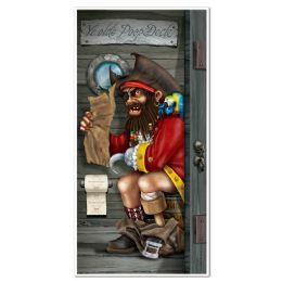 12 Units of Pirate Captain Restroom Door Cover Indoor & Outdoor Use - Photo Prop Accessories & Door Cover