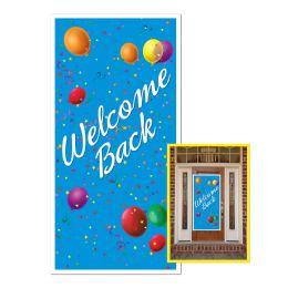 12 Units of Welcome Back Door Cover Indoor & Outdoor Use - Photo Prop Accessories & Door Cover