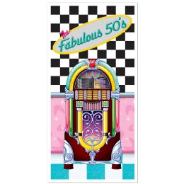 12 Units of The Fabulous 50's Door Cover Indoor & Outdoor Use - Photo Prop Accessories & Door Cover