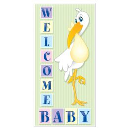12 Units of Welcome Baby Door Cover Indoor & Outdoor Use - Photo Prop Accessories & Door Cover