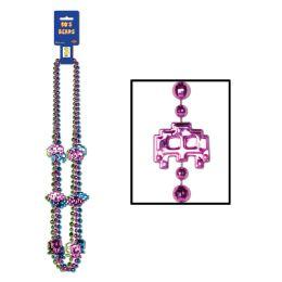 12 of 80's Beads Asstd Colors