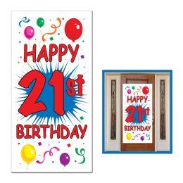 12 Units of 21st Birthday Door Cover Indoor & Outdoor Use - Photo Prop Accessories & Door Cover