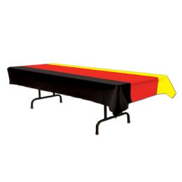 12 Units of German Tablecover Black, Red, Yellow; Plastic - Table Cloth