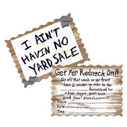 12 Wholesale Redneck Invitations Envelopes Included; Prtd 2 Sides