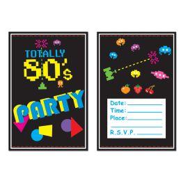 12 Wholesale 80's Invitations Envelopes Included; Prtd 2 Sides