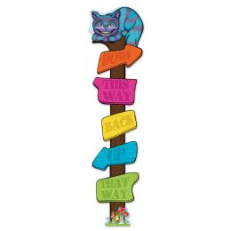 12 Units of Directional Post Cutout Assembly Required; 8 Interlocking Pieces Create 5' 6  Post - Hanging Decorations & Cut Out