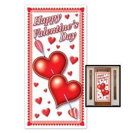 12 Units of Happy Valentine's Day Door Cover Indoor & Outdoor Use - Photo Prop Accessories & Door Cover