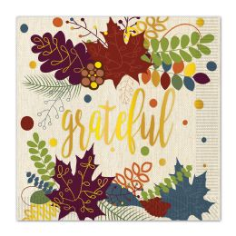 12 Wholesale Friendsgiving Luncheon Napkins (2-Ply); Not Microwave Safe