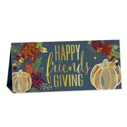 12 Wholesale 3-D Foil Happy Friendsgiving Centerpiece Foil 1 Side; Prtd 2 Sides