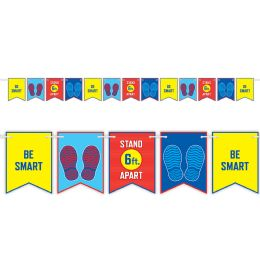 12 Wholesale Be Smart Stand 6' Apart String Streamer
