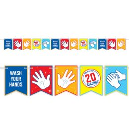 12 Wholesale Stop Scrub Your Hands String Streamers