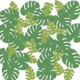 12 Wholesale Tropical Palm Leaf Del Sparkle Confetti Green & Lt Green