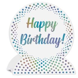 12 Wholesale 3-D Happy Birthday Centerpiece Glitter Print