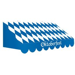 6 Wholesale 3-D Oktoberfest Awning Wall Decoration Prtd 2 Sides W/different Designs; Assembly Required