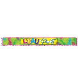 12 Wholesale Metallic Luau Party Fringe Banner Prtd 1-Ply Pvc Fringe