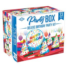 6 Wholesale Deluxe Birthday Party Box Piece Count: 33