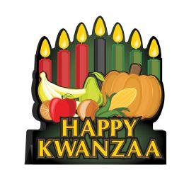 12 Wholesale 3-D Happy Kwanzaa Centerpiece