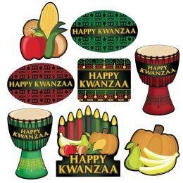 12 Wholesale Happy Kwanzaa Cutouts Prtd 2 Sides