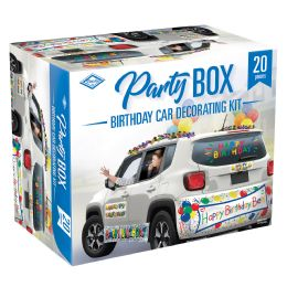 6 Wholesale Birthday Car Party Box Piece Count: 20