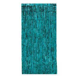 6 Wholesale 1-Ply Gleam 'n Curtain Turquoise