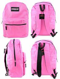 "12 Units of 17"" Classic Backpacks - Pink - Backpacks 17"""