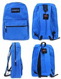 "12 Units of 17"" Classic Backpacks - Blue - Backpacks 17"""