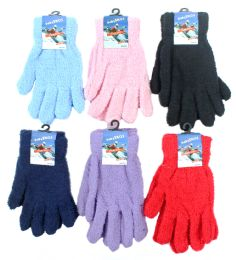 60 Bulk Women's Fuzzy Gloves