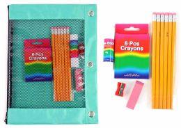 12 Bulk Basic Elementary School Supply Kits