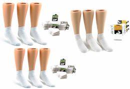 216 of Children's Athletic Ankle Socks Combo - White - Sizes 1-3, 4-6, & 6-8