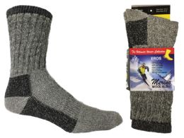 30 Units of Women's Thermal Merino Wool Crew Socks - 2-Pair Packs - Womens Thermal Socks