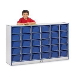 Rainbow Accents 30 CubbiE-Tray Mobile Storage - Without Trays - Red - Storage