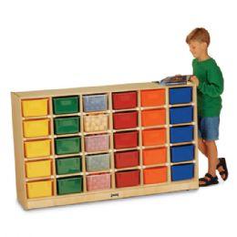 JontI-Craft 30 CubbiE-Tray Mobile Storage - With Colored Trays - Storage