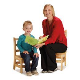"JontI-Craft Instructors Ladderback Chair Pair - 12"" Height - Seating"