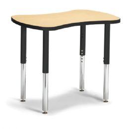 "Berries Collaborative Bowtie Table - 24"" X 35"" - Maple/black - Berries"