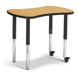 "Berries Collaborative Bowtie Table - 24"" X 35"" - Oak/black - Berries"
