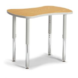 "Berries Collaborative Bowtie Table - 24"" X 35"" - Oak/gray - Berries"