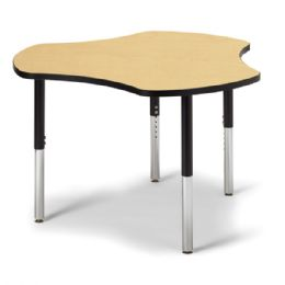 "Berries Collaborative Hub Table - 44"" X 47"" - Maple/black - Berries"