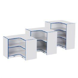 Rainbow Accents Toddler Inside Corner StoragE- Blue - Storage
