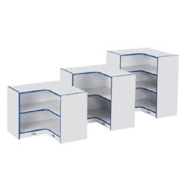 Rainbow Accents Low Inside Corner Storage - Teal - Storage