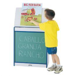 Rainbow Accents Big Book Easel - Chalkboard - Teal - Literacy