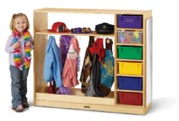 JontI-Craft DresS-Up Storage With Colored Tubs - Dramatic Play