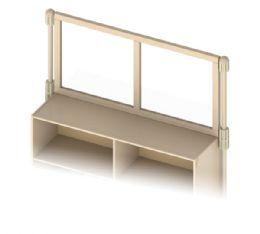 Wholesale Kydz Suite Upper Deck Divider - SeE-Thru