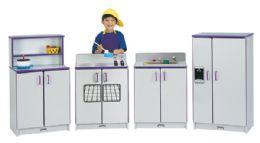 Rainbow Accents Play Kitchen 4 Piece Set - Purple - Dramatic Play