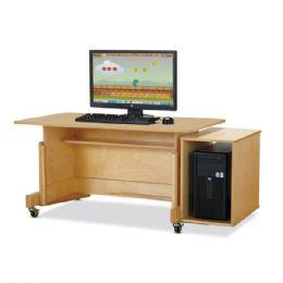JontI-Craft Apollo Single Computer Desk - Maple Top - STEM